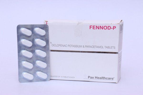 Diclofenac potassium & paracetamol tabltes