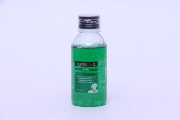 :TERBUTALINE SULPHATE + BROMHEXINE HYDRO CHLORIDE + GUAIPHENESIN + MENTHOL Syrup